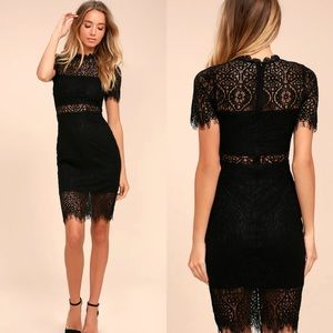 Lulu's Remarkable Black Lace Dress